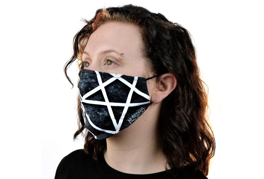Heartless | Pentagram Face Mask - Side