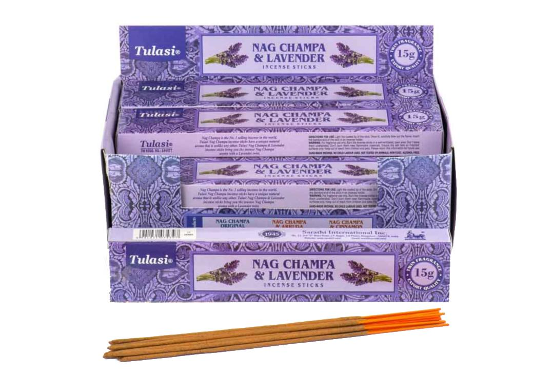 Tulasi | Lavender & Nag Champa Incense Sticks