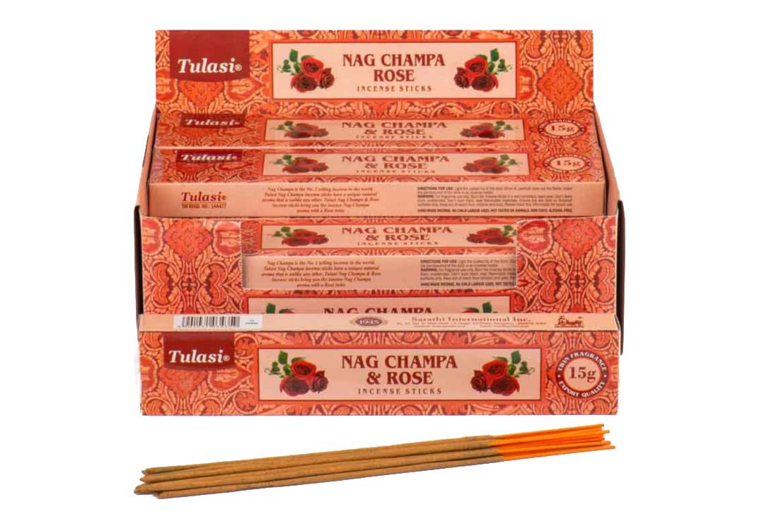 Tulasi | Rose & Nag Champa Incense Sticks