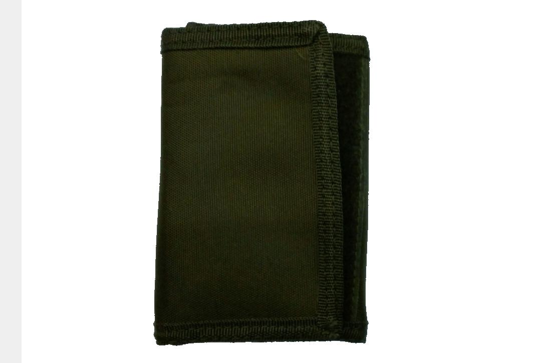 Kombat | Olive Green Tri-Fold Wallet - Outside
