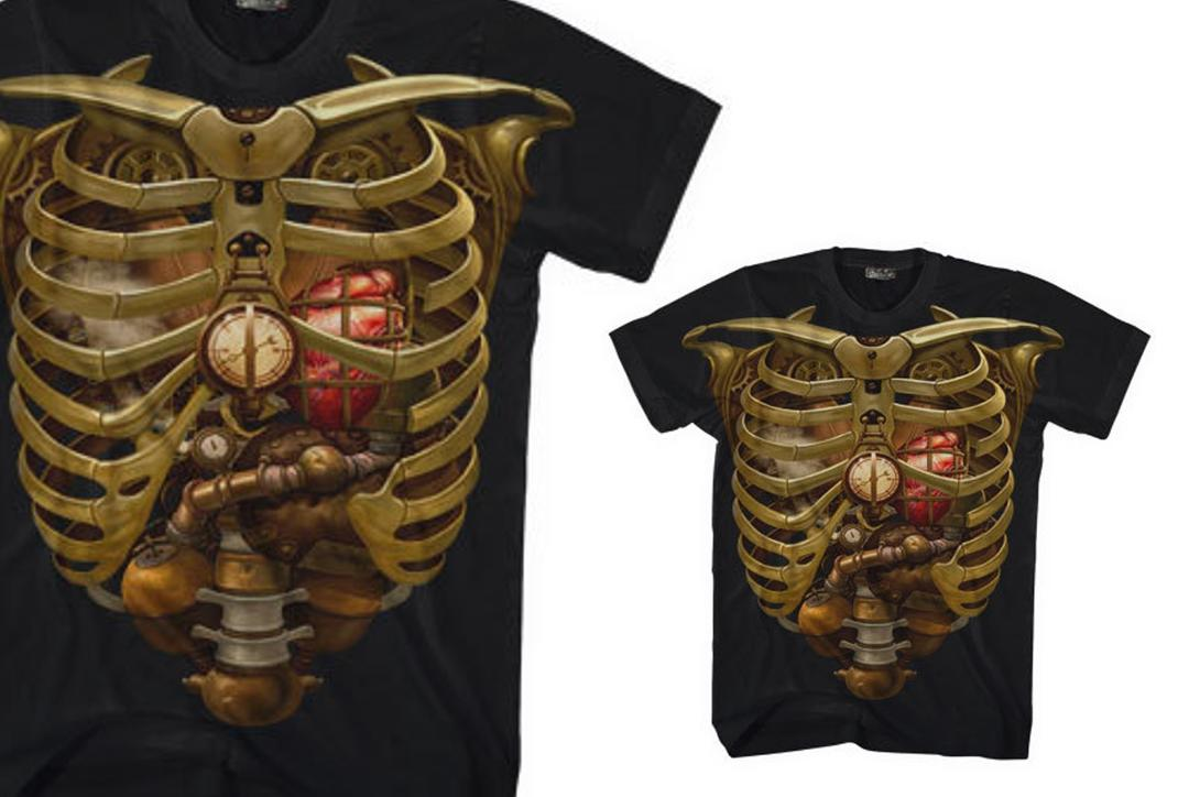 Darkside | Steampunk Ribs Short Sleeve Men's T-Shirt