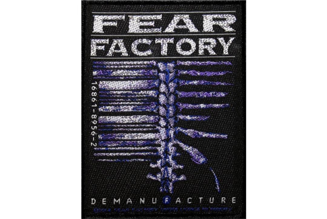 Official Band Merch | Fear Factory - Demanufacture Woven Sew On Patch