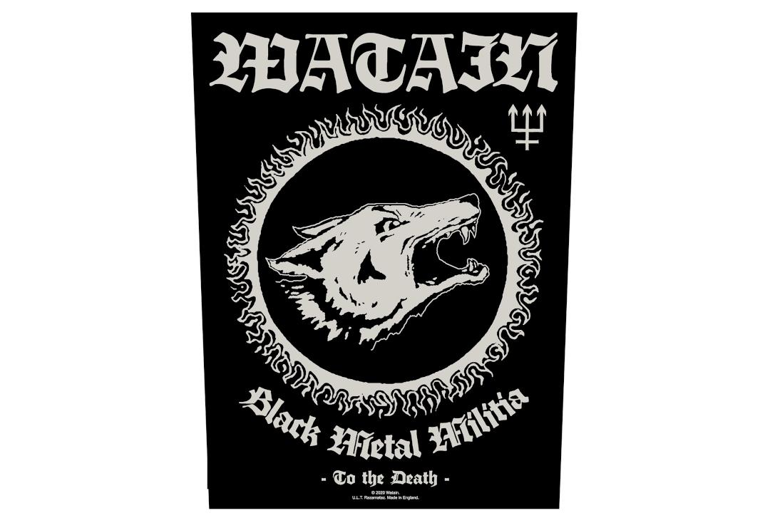 Official Band Merch | Watain - Black Metal Milisha Printed Back Patch