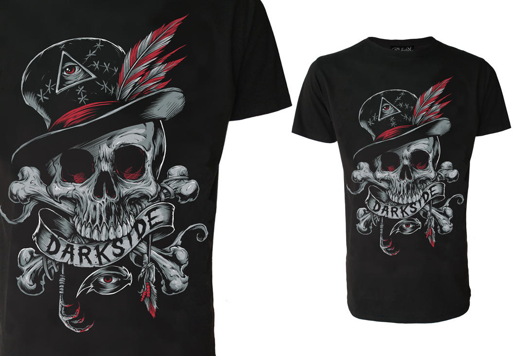 Darkside | Voodoo Skull Men's Short Sleeve T-Shirt