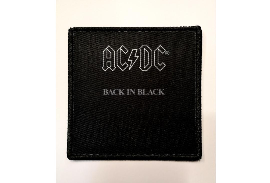 Official Band Merch | AC/DC - Back In Black Album Cover Woven Patch