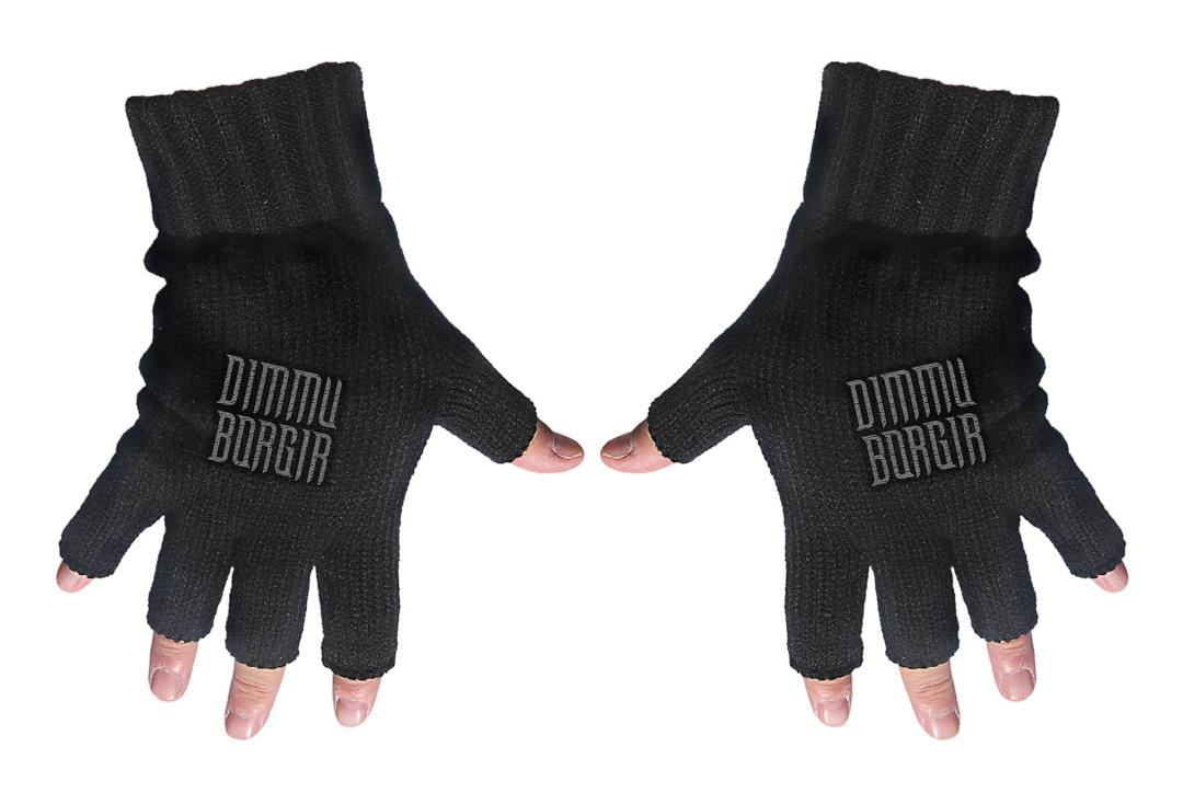 Official Band Merch | Dimmu Borgir - Logo Embroidered Knitted Finger-less Gloves