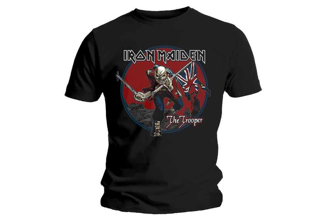 Official Band Merch | Iron Maiden - The Trooper Red Sky Official Men's Short Sleeve T-Shirt