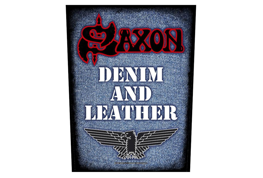 Official Band Merch | Saxon - Denim & Leather Printed Back Patch