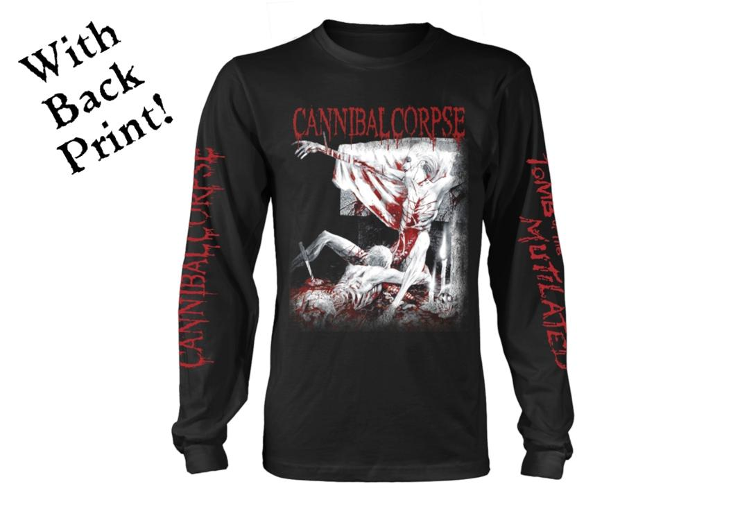 Official Band Merch | Cannibal Corpse - Tomb Of The Mutilated (Explicit) Men's Official Long Sleeve T-Shirt - Front