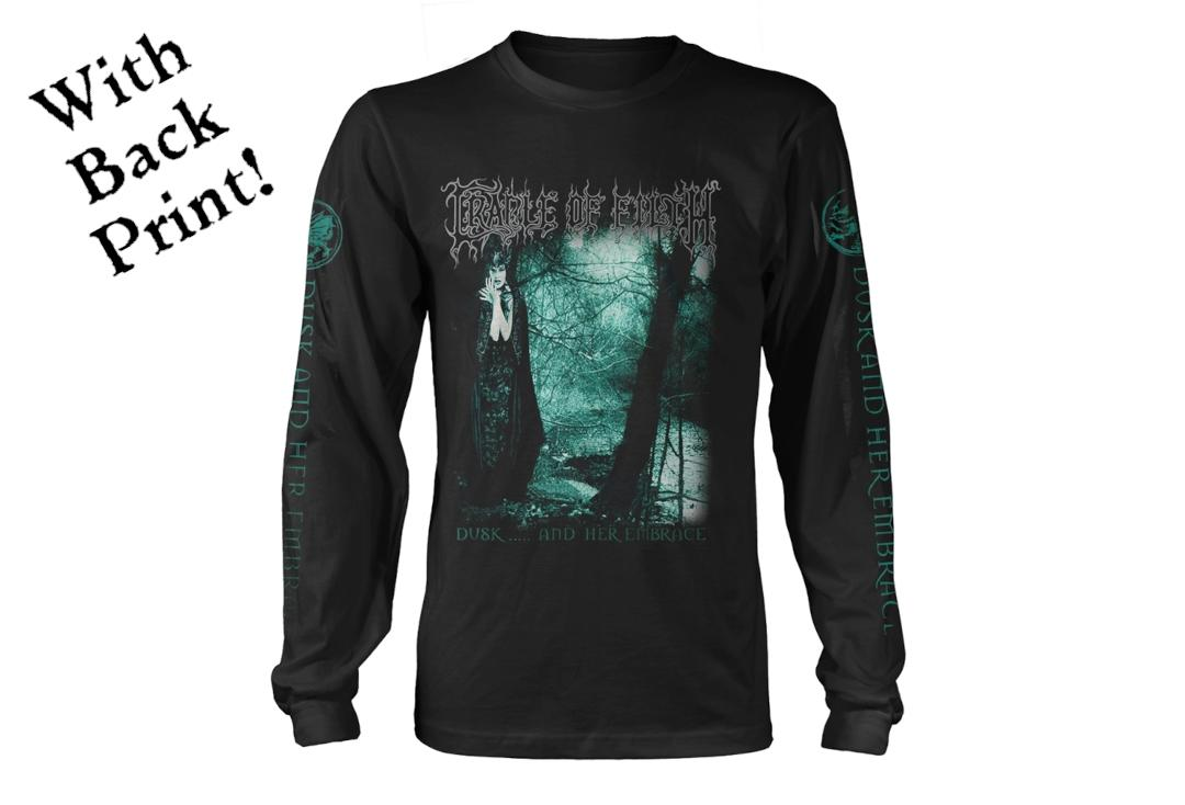 Official Band Merch | Cradle Of Filth - Dusk And Her Embrace Men's Official Long Sleeve T-Shirt - Front