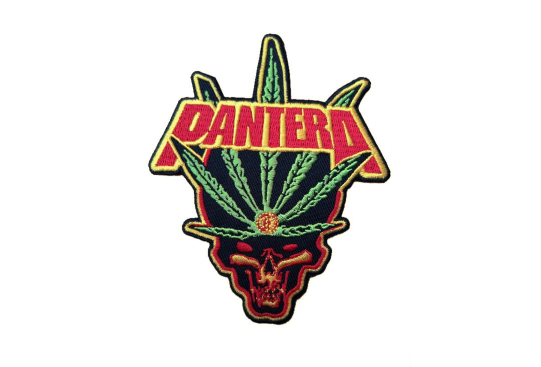 Official Band merch | Pantera - Leaf Skull Woven Patch