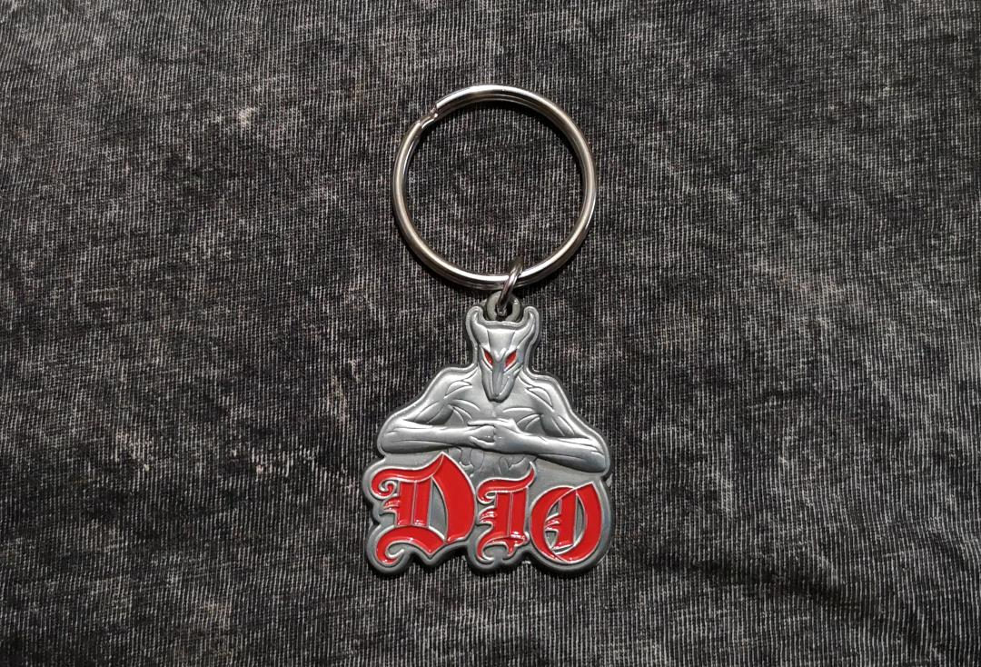 Official Band Merch | Dio - Logo Official Metal Keyring