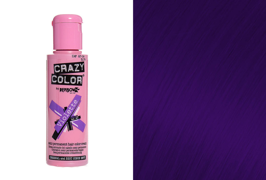 Renbow | Crazy Color Semi-Permanent Hair Colour (043 Violette)