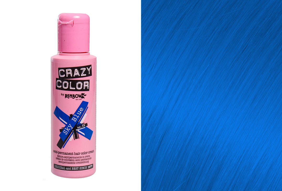 Renbow | Crazy Color Semi-Permanent Hair Colour (059 Sky Blue)