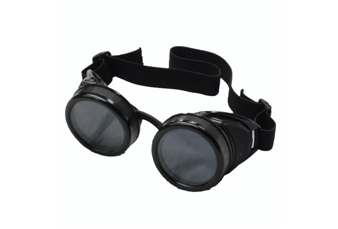 Void Clothing | Black Smooth Side Round Cyber Goggles