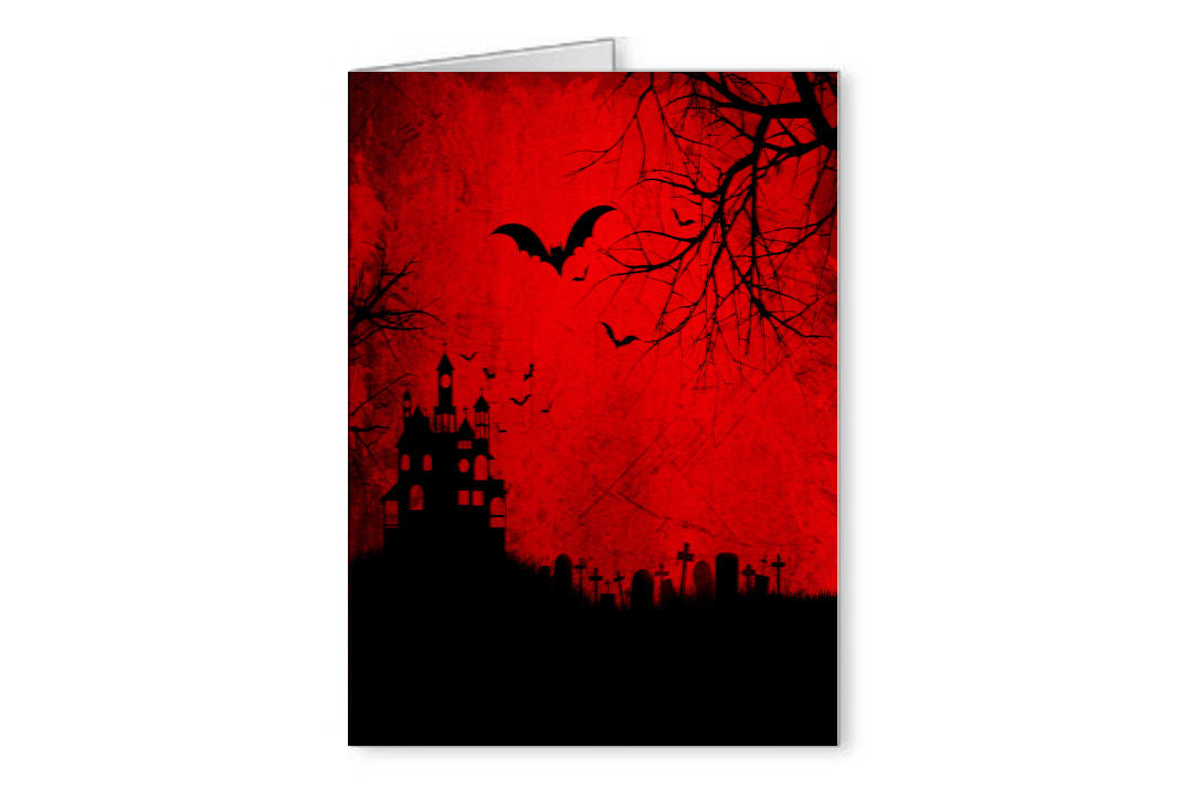 Void Clothing | Graveyard Scene Greetings Card