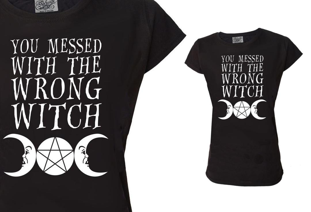 Darkside | You Messed With The Wrong Witch Darkside Scoop Neck Loose Fit Women's T-Shirt