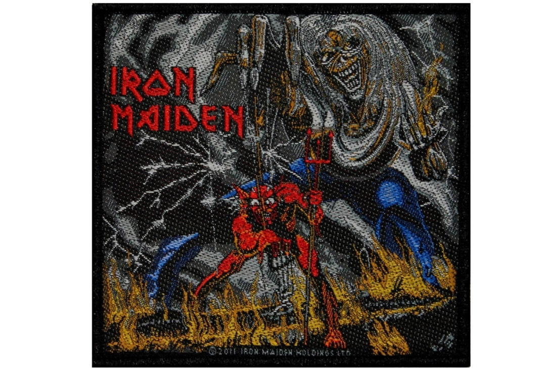 Official Band Merch | Iron Maiden - Number Of The Beast Woven Sew On Patch