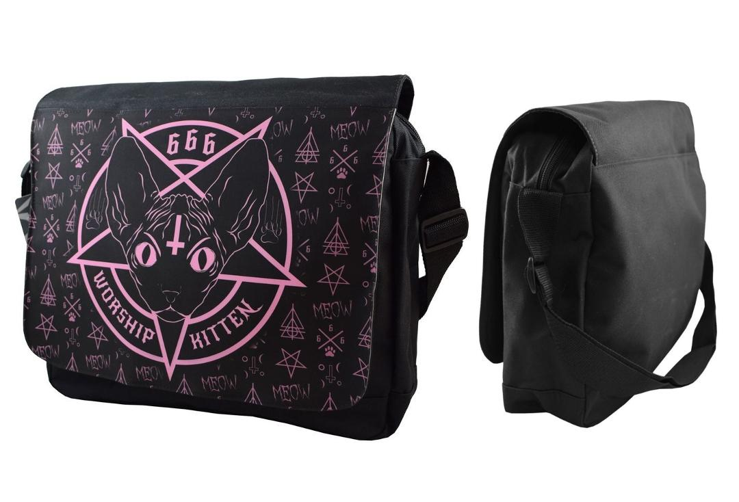 Darkside | Kitten 666 Messenger Bag - Front & Side View