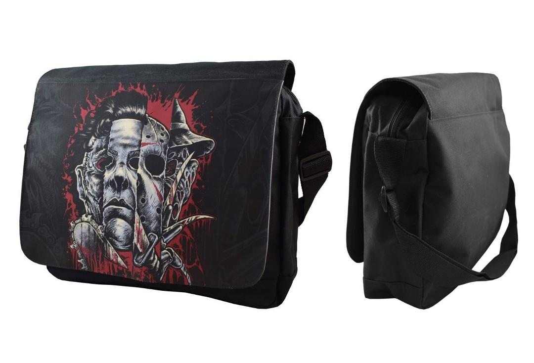 Darkside | Faces Of Horror Messenger Bag - Front & Side View