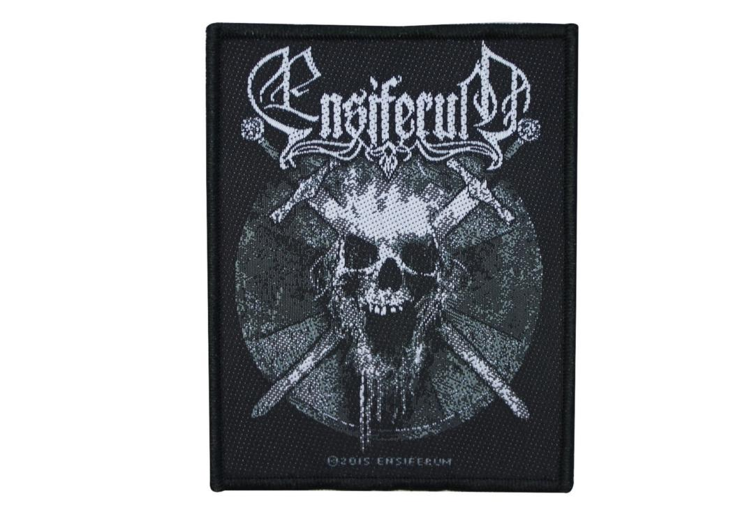 Official Band Merch | Ensiferum - Skull Woven Patch