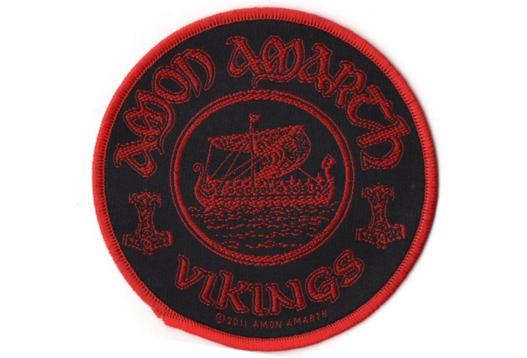 Official Band Merch | Amon Amarth - Vikings Circular Woven Patch