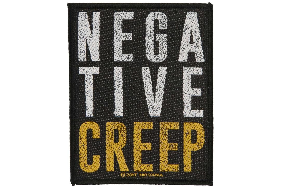 Official Band Merch | Nirvana - Negative Creep Woven Patch