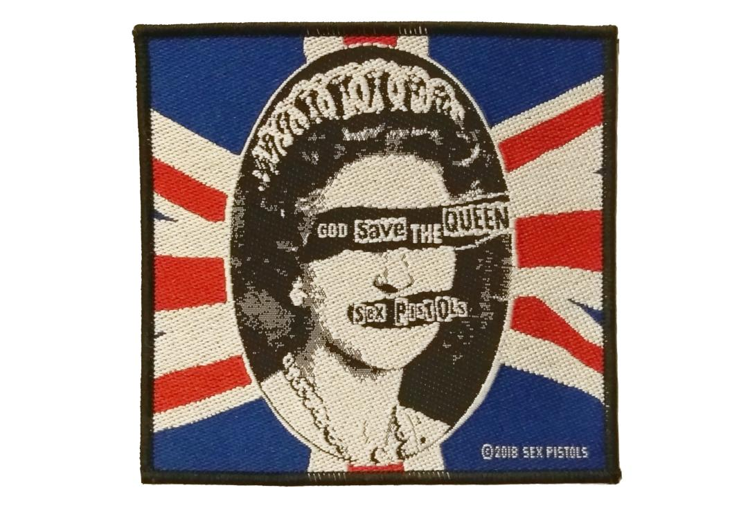 Official Band Merch | Sex Pistols - God Save The Queen Woven Patch
