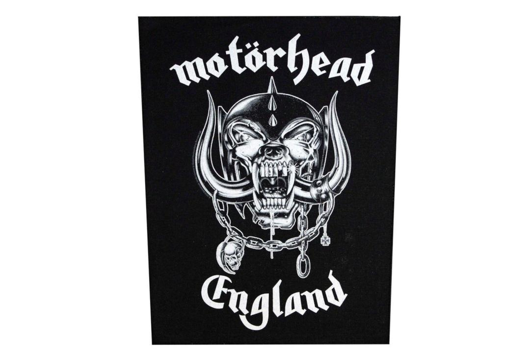 Official Band Merch | Motorhead - England Printed Back Patch