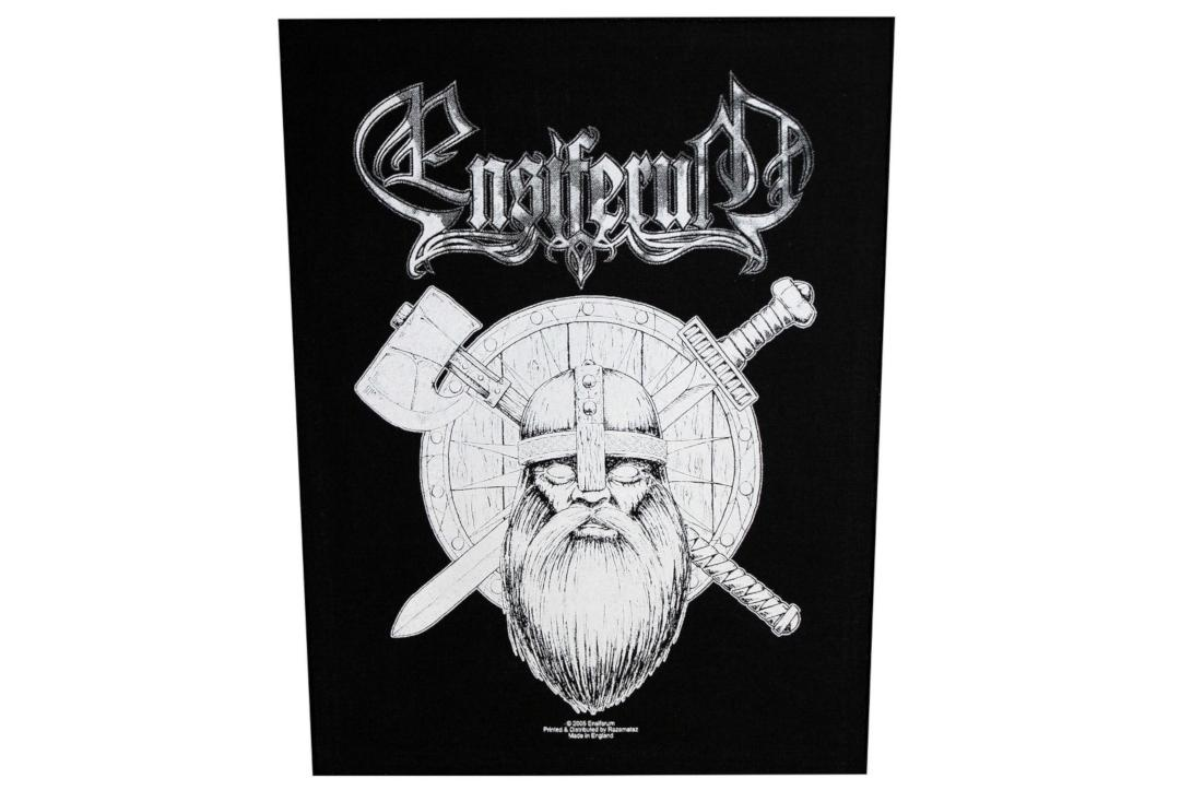 Official Band Merch | Ensiferum - Sword & Axe Printed Back Patch