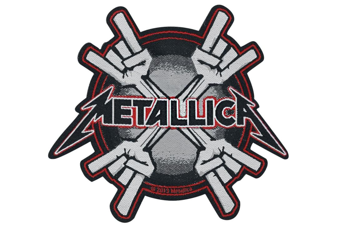 Official Band Merch | Metallica - Metal Horns Woven Patch