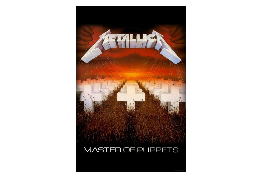 Official Band Merch | Metallica - Master Of Puppets Printed Textile Poster