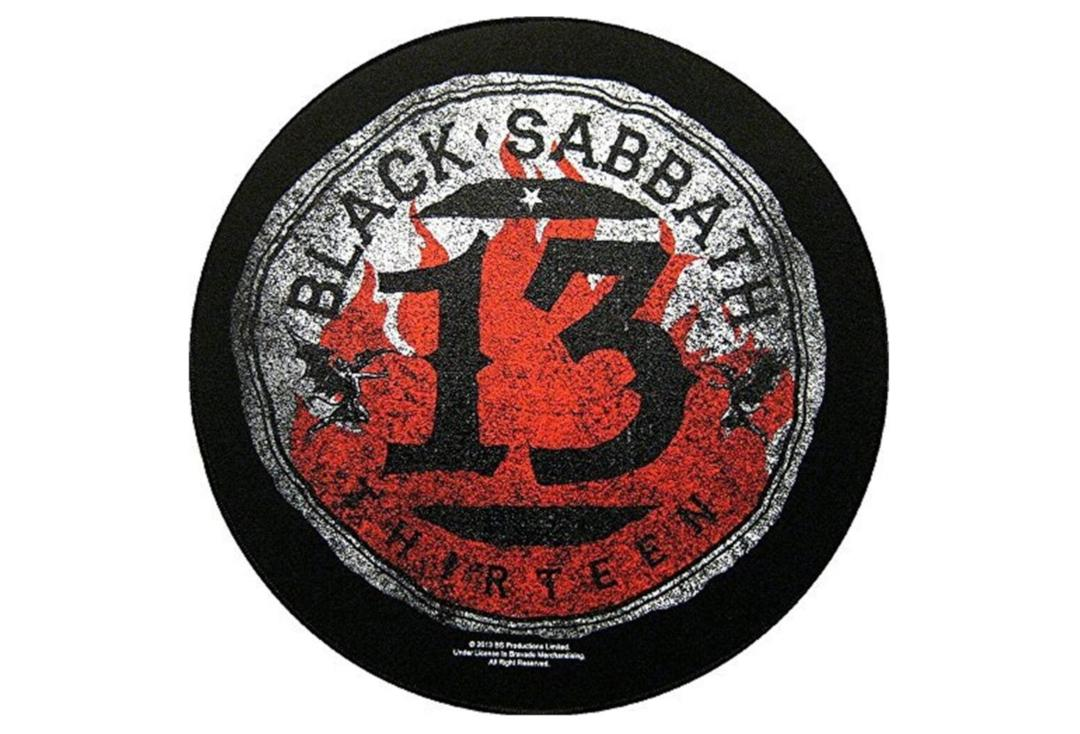Official Band Merch | Black Sabbath - 13/Flames Circular Printed Back Patch