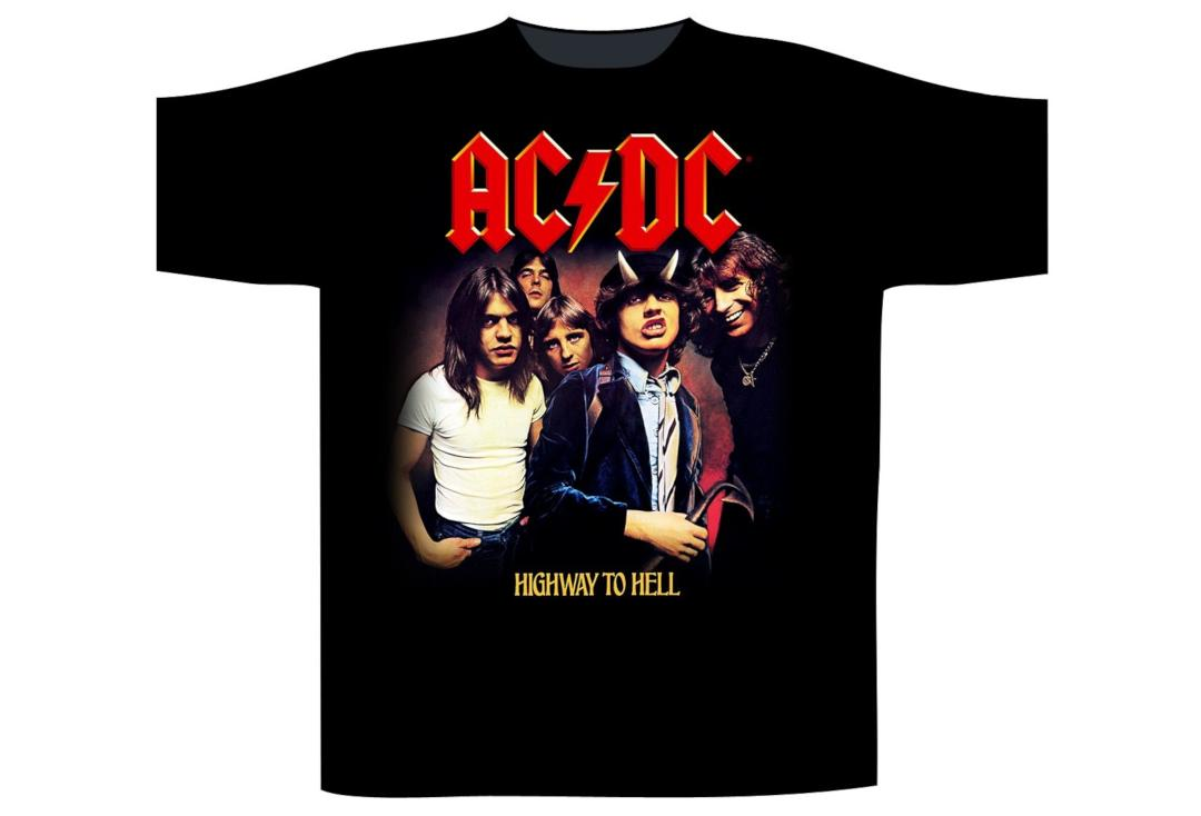 Official Band Merch | AC/DC - Highway To Hell Men's Short Sleeve T-Shirt