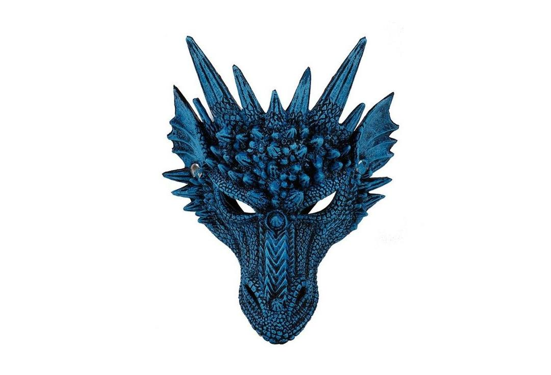 Void | Blue Half Dragon Face Mask