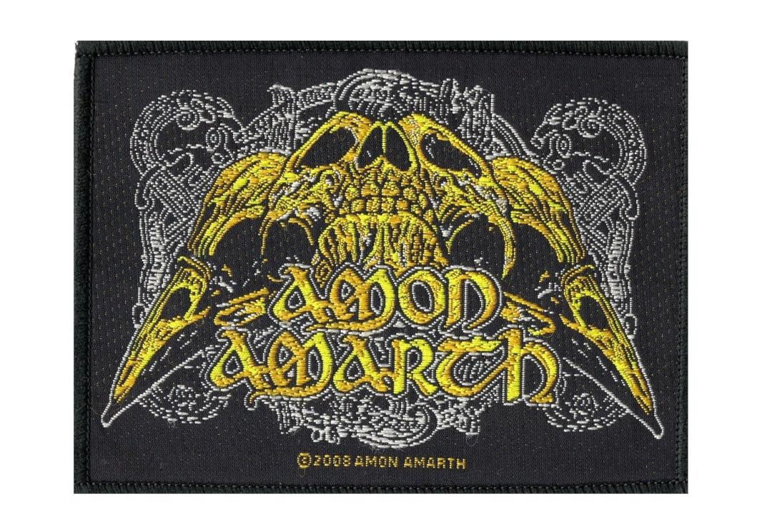 Official Band Merch | Amon Amarth - Raven Skull Woven Patch