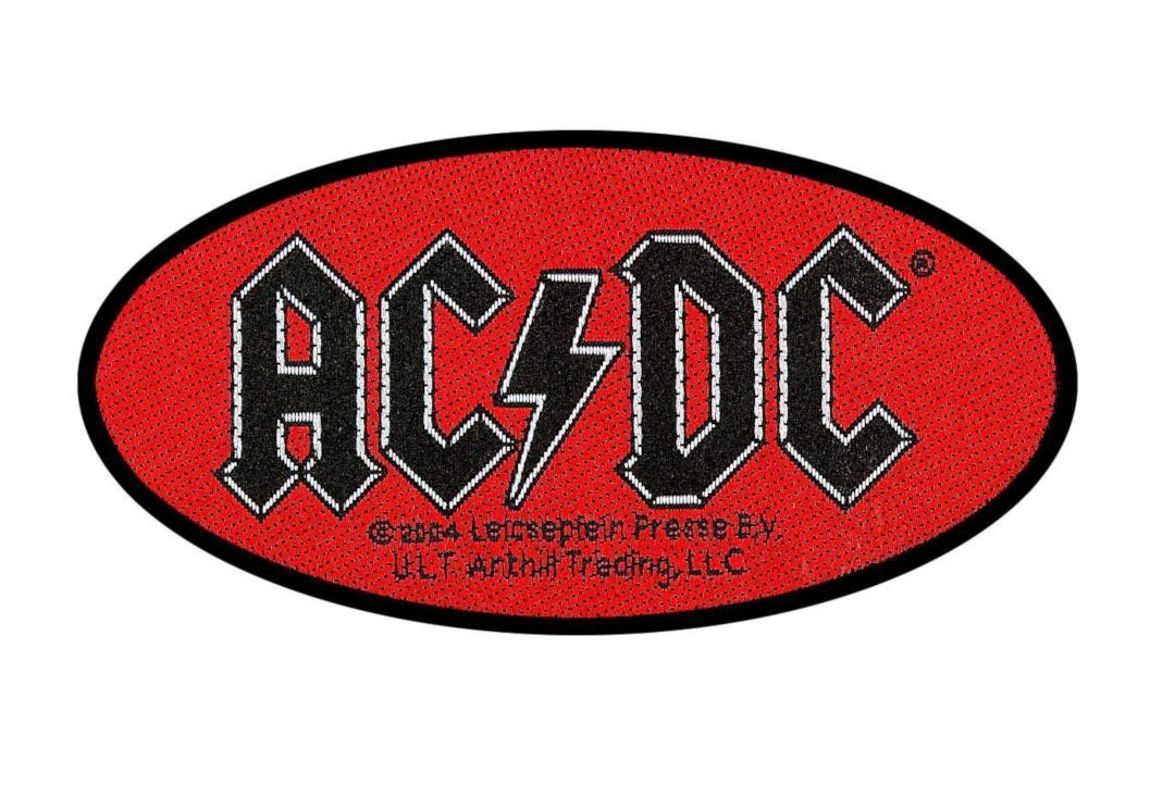 Official Band Merch | AC/DC - Red Logo Woven Patch