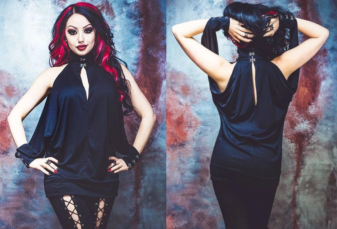 Necessary Evil | Feronia Cold Shoulder Bat-Wing Top