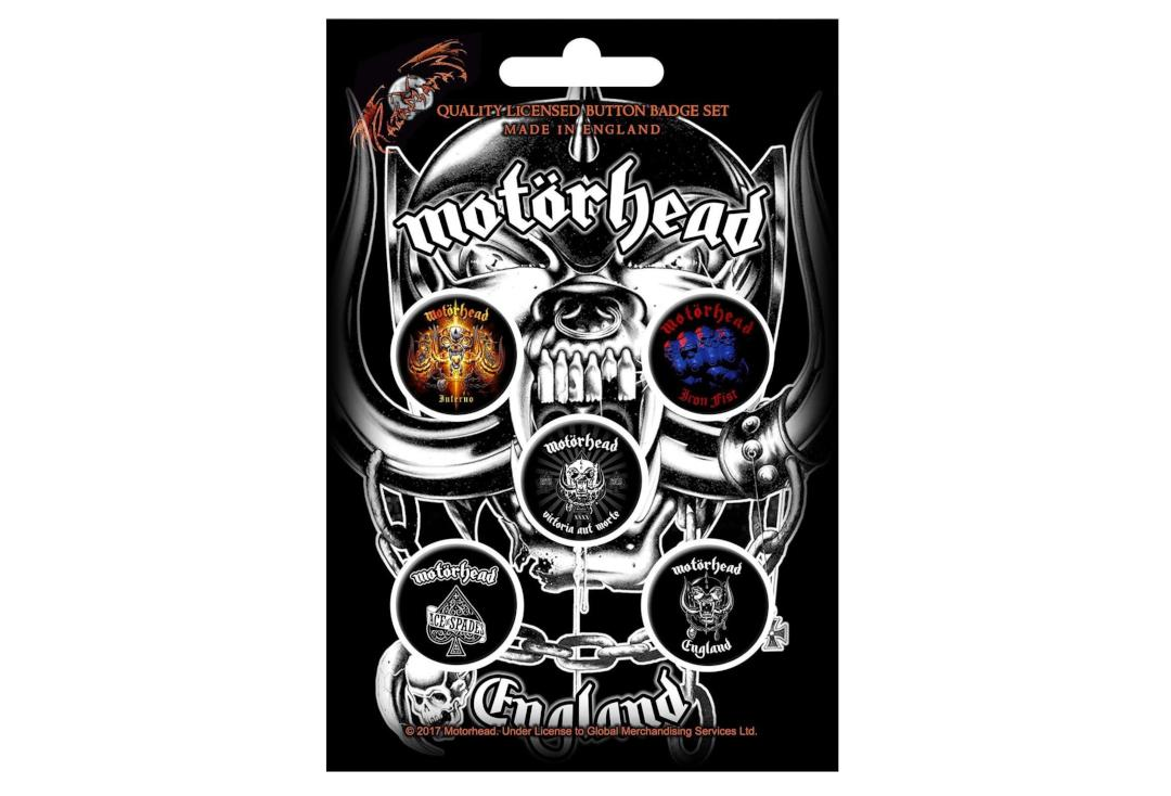 Official Band Merch | Motorhead - England Button Badge Pack