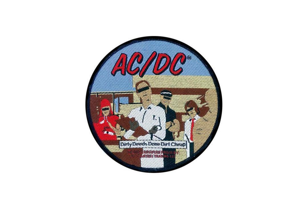 Official Band Merch | AC/DC - Dirty Deeds Done Dirt Cheap Woven Patch