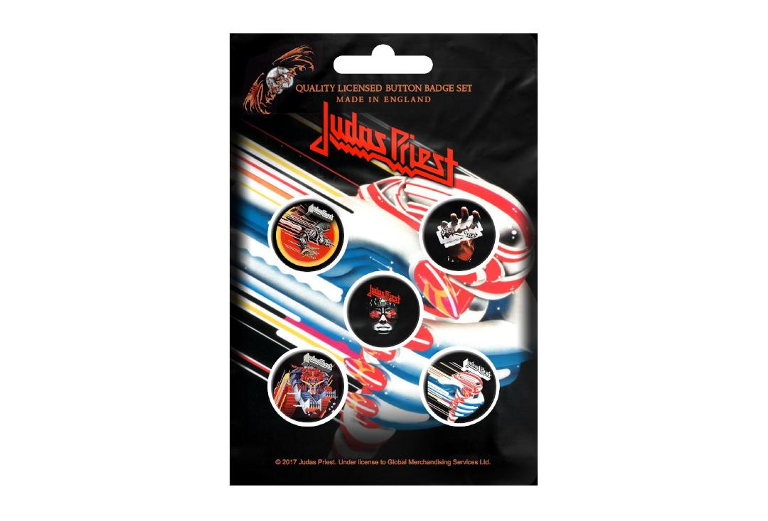 Official Band Merch | Judas Priest - Turbo Button Badge Pack