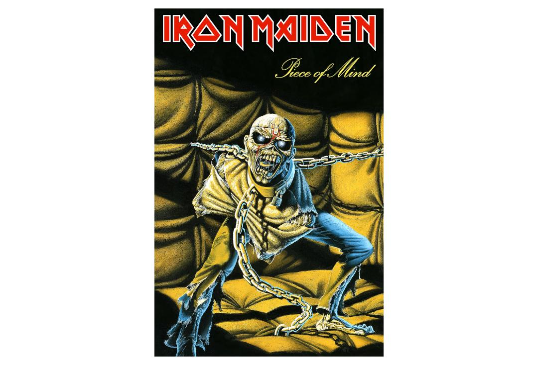 Official Band Merch | Iron Maiden - Piece Of Mind Printed Textile Poster