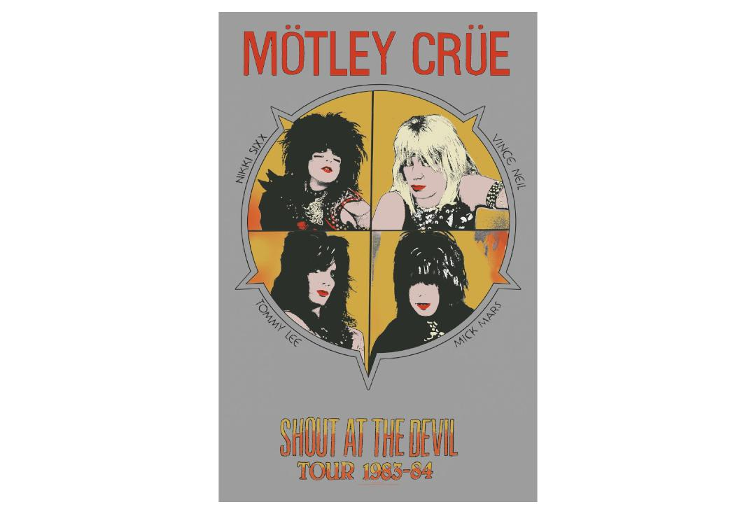 Official Band Merch | Motley Crue - Shout At The Devil Printed Textile Poster