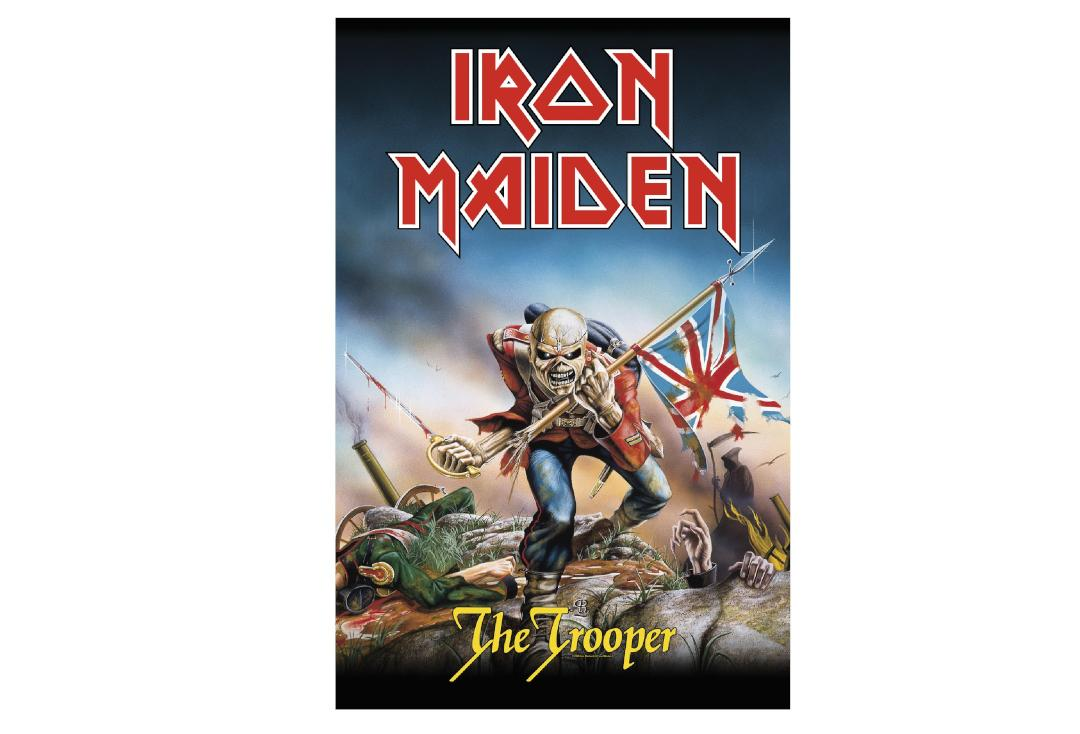 Official Band Merch | Iron Maiden - The Trooper Printed Textile Poster
