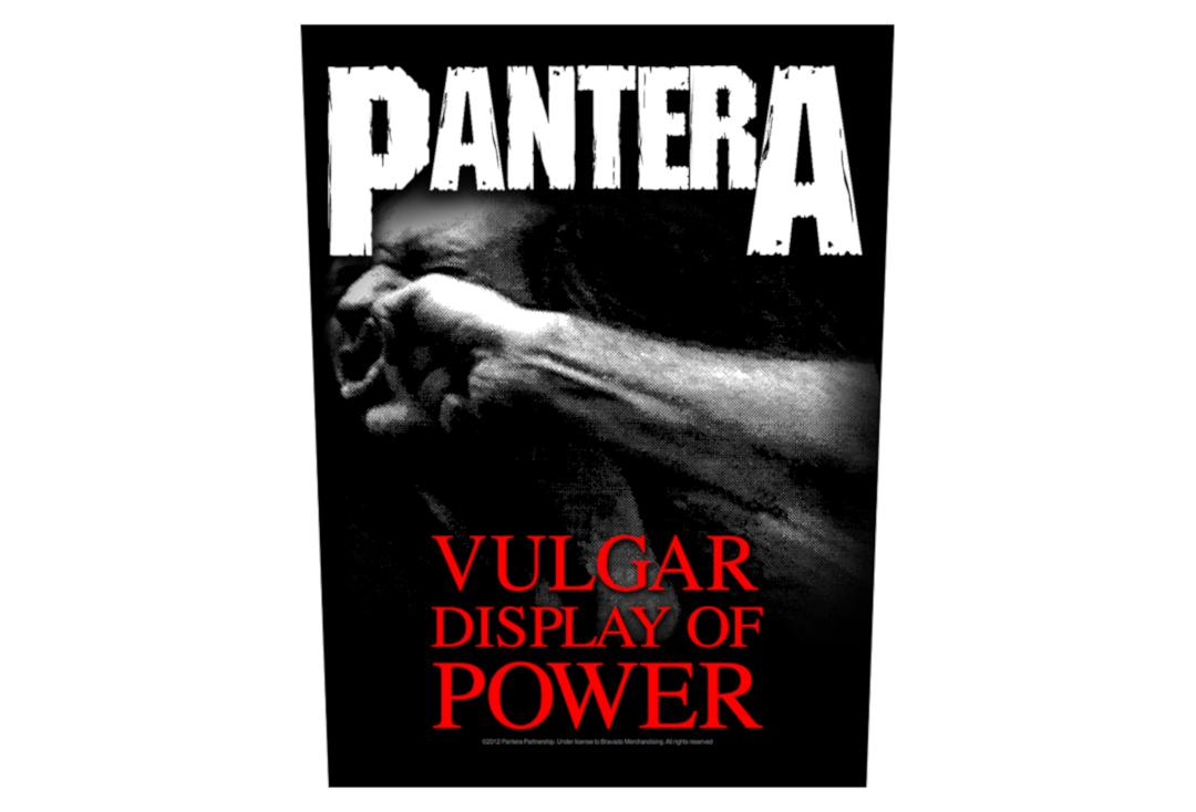 Official Band Merch | Pantera - Vulgar Display Of Power Printed Back Patch