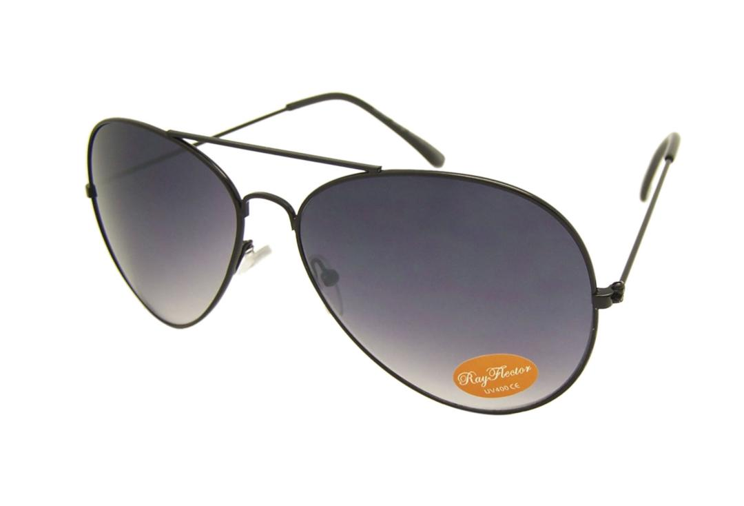 RayFlector | Black Aviator Sunglasses