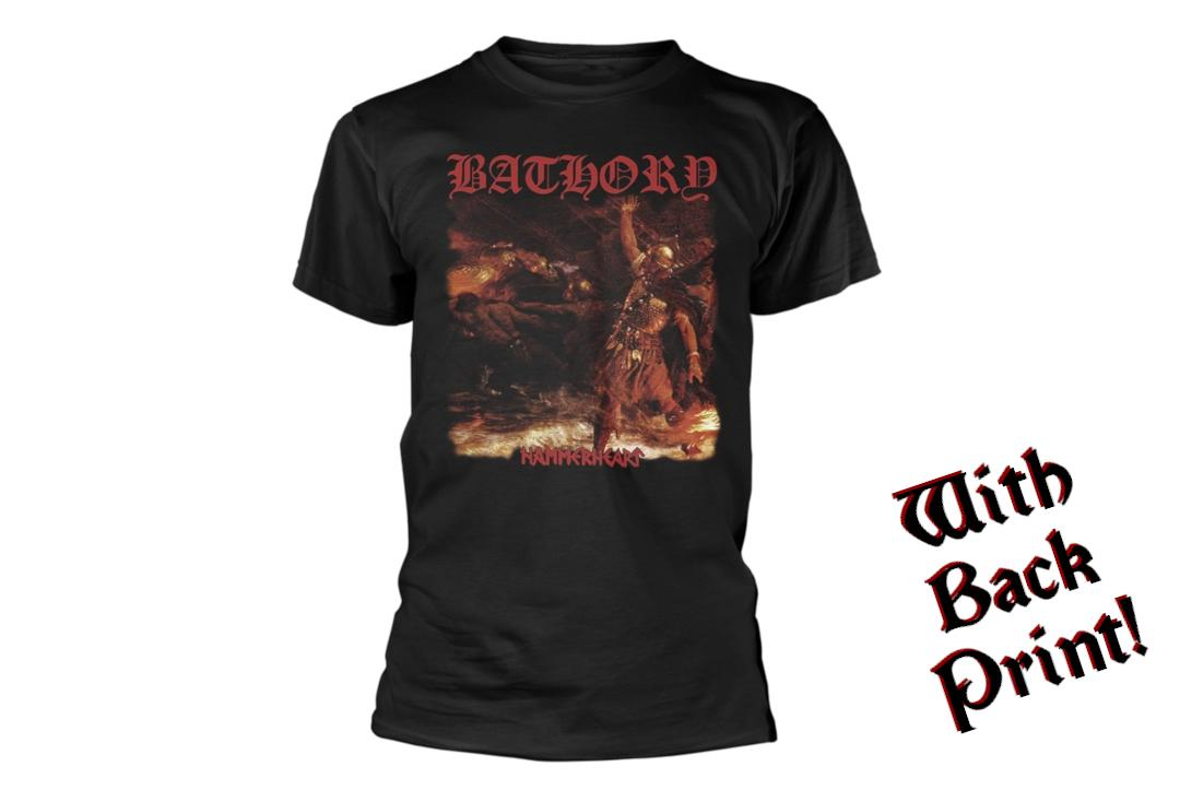 Official Band Merch | Bathory - Hammerheart Men's Short Sleeve T-Shirt - Front