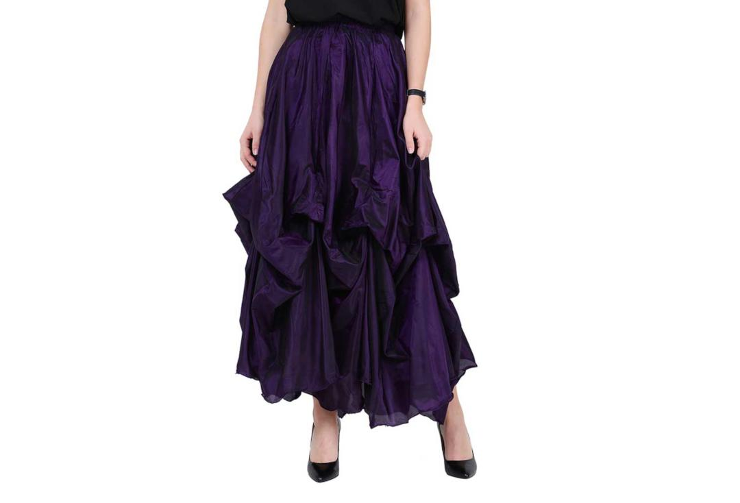 Darkstar By Jordash | Purple Ruched Gothic Skirt