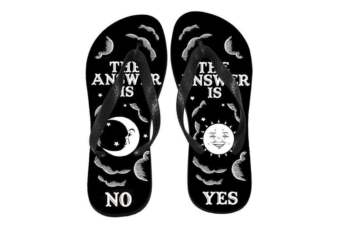 Darkside Clothing | The Answer Is No Unisex Flip-Flops