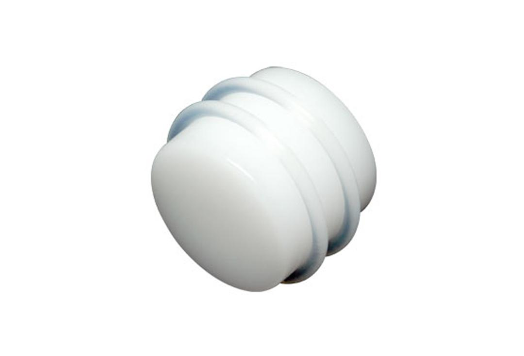 Body Jewellery | White Acrylic Silicone Banded Plugs 3mm to 24mm